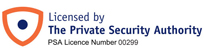 Ultrasafe Security is licenced by the Private Security Authority